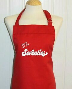 small adult Child of the seventies novelty apron * 1970s option to personalise