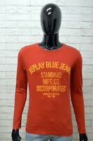 Maglia Uomo REPLAY Taglia S Maglietta Cotone Shirt Man T-Shirt Rosso
