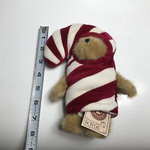 "Boyds Bears Lil' C.C. PEEKER #562745 2003 Plush 7.5"" Candy Cane Peeker. N1"