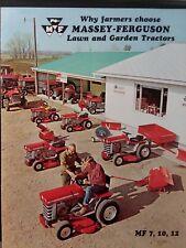 Massey Ferguson Mf 7 10 12 Lawn Garden Tractor & Implements Color Sales Brochure
