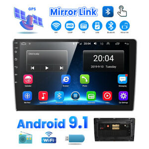 Double 2 Din 10.1 inch Android 9.1 Quad Core Car Radio In Dash Stereo GPS Navi