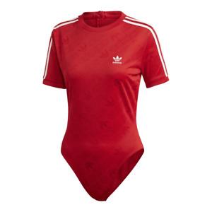 NWT adidas short sleeve bodysuit Trefoil monogram ED7506 - S