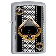 Collectable  Poker Player Ace of Spades Street Chrome ZIPPO LIGHTER 15389
