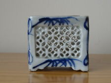 c.19th - Antique Chinese China Blue and White Porcelain Brush pot