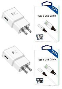 Motorola Moto G Fast/G Power/G Stylus Fast Adaptive Wall Car USB-C 10 Feet Cable