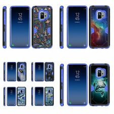 For Samsung Galaxy S9 G960 Hybrid Holster Belt Clip Case Kickstand Armor Blue