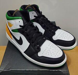 Nike Air Jordan 1 Mid SE 852542-101 Laser Orange Black White New W/Box Size 11