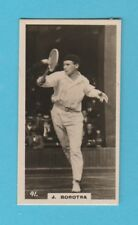 TENNIS - BRITISH AMERICAN TOBACCO - SCARCE TENNIS CARD -  JEAN  BOROTRA  -  1926