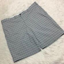 Greg Norman Golf Shorts Gray Black White Men 42