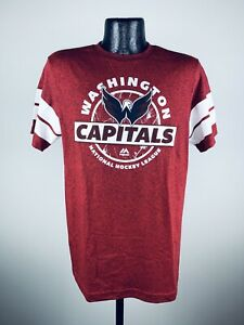 Men's Majestic Heather Red Pass The Limit Washington Capitals Shirt NWT Small