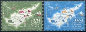 Cyprus Europa Stamps 2020 MNH Ancient Postal Routes Services Maps 2v Set