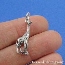 925 Sterling Silver Giraffe Charm - African Safari Zoo Pendant NEW
