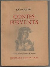 CONTES FERVENTS JEAN de LA VARENDE ILL. LE TRIVIDIC 8 GRAVURES E.O. N° 1948