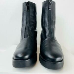 COS Black Leather Zip Boots - 37