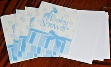Baby Shower Invitations 10 Pk Set With 10 Envelopes Blue Shower @My Other Items