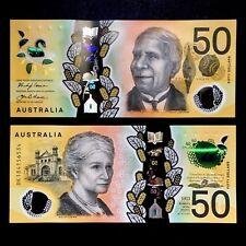 2018 AUSTRALIA 50 DOLLARS POLYMER P-NEW UNC> > > > > >DAVID UNAIPON EDITH COWAN