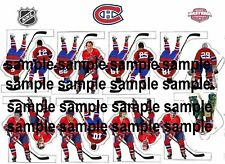 table hockey coleco decal sheet Montreal Canadiens team 70s dynasty legend