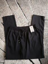 Tu Black Jogger Style Trousers Workwear UK 12 £20 elastic waist