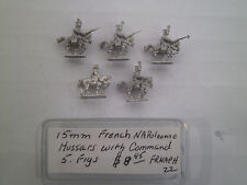 15mm Museum miniatures  French Napoleonic Hussars with Command