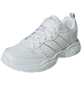 adidas Men's Strutter UK 11.5 Leather Training Gym Fitness Trainers Shoes White
