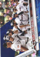 ATLANTA BRAVES 2017 TOPPS CHROME SAPPHIRE EDITION #572 ONLY 250 MADE