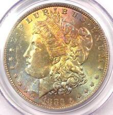 1883-O Toned Morgan Silver Dollar $1 - PCGS MS63 - Nice Rainbow Toning!