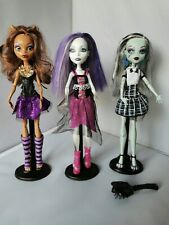 Monster high ghouls alive Set Of 3, Clawdeen,  Frankie And Spectra