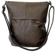 zwei Damentasche - Farbe: taupe - Crossover Schulter Trage Umhänge Tasche neu