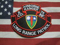 US ARMY B CO 75th INFANTRY REGIMENT AIRBORNE RANGER LONG RANGE PATROL c/e