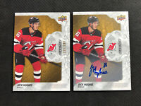 2019-20 UD ENGRAINED JACK HUGHES LOT OF 2 ROOKIE AUTO + SILVER #ed 219/299