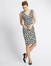 RRP £65 ex M&S MARKS & SPENCER FLORAL LACE OFFICE BODYCON DRESS BNWOT