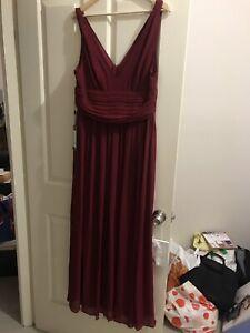 Brand New V-Neck Burgundy Bridesmaids Dresses