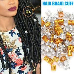100Pcs Dreadlock Hair Braid Cuff Clips Bead Ring Wrap Adjustable Accessory Set