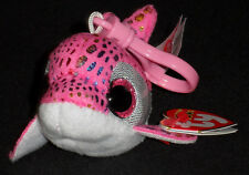 TY BEANIE BOOS BOO'S - SPARKLES the DOLPHIN KEY CLIP - MINT with MINT TAGS