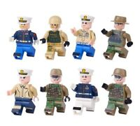WW2 Army Minifigures Marines Mini-figures Army Soldiers US Soldiers Military