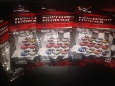 Lot of 5 NASCAR Authentics Die Cast Car and Sticker Wave 2 2019 Mystery Car