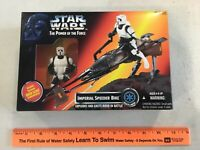 Star Wars 1995 POTF Imperial Speeder Bike, sealed, free shipping! 69765
