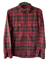 Adidas Gents Flannel Red Checks Shirt Size UK 40-42