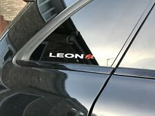 SEAT LEON FR VINYL STICKER GRAPHIC CAR/SIDE WINDOW/BUMPER DECAL/GRAPHIC FREE P&P