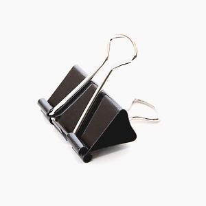 Metall Büroklammer Foldback Dokumenten Clip Tütenverschluss 12 Stück Schwarz NEU