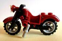 Lego Town/ City Dark Red Vintage Motor bike   New