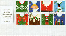 Jersey 2018 FDC Christmas Jumpers Reindeer Snowman Angels 8v S/A Cover Stamps