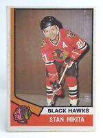 1974-75 Stan Mikita #20 Chicago Black Hawks OPC O-Pee-Chee Ice Hockey Card H411
