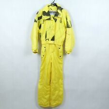 KITEX WORLDWIDE Womens Yellow Festival Ski Suit One Piece Snowsuit SIZE Medium