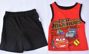 Tolles Original Baby Sommer Set Hose und Shirt Größe 12M 74 Disney Cars