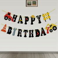 Construction Vehicle Garland Paper Birthday Banner Kids Birthday Party DIY Decor
