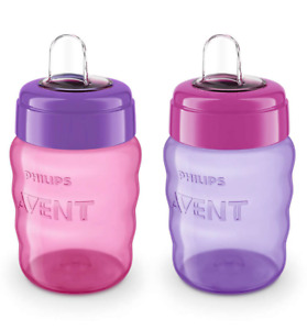 Philips Avent My Easy Spout Cups 9 oz SCF553/23 - Girl Colors