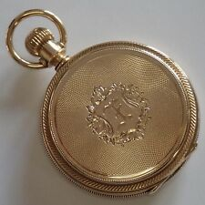 ANTIQUE VICTORIAN ELGIN 14K GOLD MENS FULL HUNTERS CASE POCKET WATCH