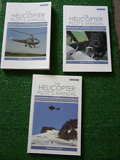 3 x BOOKS: The Helicopter Pilot's Manual Vol 1 2 & 3 principles handling control