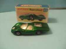 Matchbox Superfast #45 Green Ford Group 6 with Black Base in Original Box